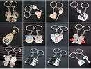 2pc metal keyring ,unique keyfob ,couples romatic keyring lover keychain    Fashion Love Heart Keyring Couple Keychain