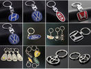 Car Logo Keychain Alloy 3D Key Chain Metal Pendant Holder Key Ring
